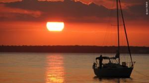 sunset on barnegat bay