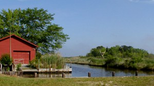Lighthouse lagoon on barnegat bay